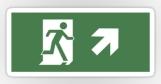 Running Man Fire Safety Exit Sign Emergency Evacuation Sticker Decals 41
