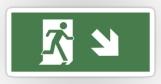 Running Man Fire Safety Exit Sign Emergency Evacuation Sticker Decals 42