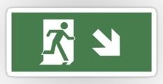 Running Man Fire Safety Exit Sign Emergency Evacuation Sticker Decals 42