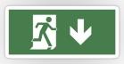 Running Man Fire Safety Exit Sign Emergency Evacuation Sticker Decals 43