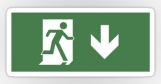 Running Man Fire Safety Exit Sign Emergency Evacuation Sticker Decals 43