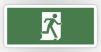Running Man Fire Safety Exit Sign Emergency Evacuation Sticker Decals 44