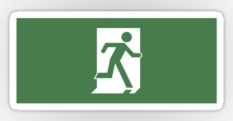 Running Man Fire Safety Exit Sign Emergency Evacuation Sticker Decals 44