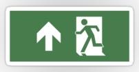 Running Man Fire Safety Exit Sign Emergency Evacuation Sticker Decals 45