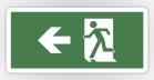 Running Man Fire Safety Exit Sign Emergency Evacuation Sticker Decals 46