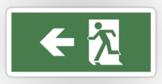 Running Man Fire Safety Exit Sign Emergency Evacuation Sticker Decals 46