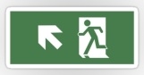 Running Man Fire Safety Exit Sign Emergency Evacuation Sticker Decals 47