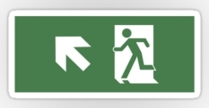 Running Man Fire Safety Exit Sign Emergency Evacuation Sticker Decals 47