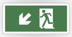 Running Man Fire Safety Exit Sign Emergency Evacuation Sticker Decals 48