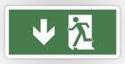 Running Man Fire Safety Exit Sign Emergency Evacuation Sticker Decals 49