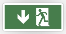 Running Man Fire Safety Exit Sign Emergency Evacuation Sticker Decals 49