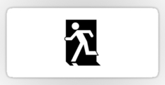 Running Man Fire Safety Exit Sign Emergency Evacuation Sticker Decals 5