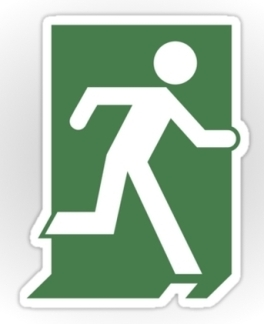 Running Man Fire Safety Exit Sign Emergency Evacuation Sticker Decals 50