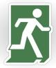Running Man Fire Safety Exit Sign Emergency Evacuation Sticker Decals 50