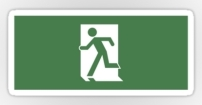 Running Man Fire Safety Exit Sign Emergency Evacuation Sticker Decals 51
