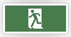 Running Man Fire Safety Exit Sign Emergency Evacuation Sticker Decals 51