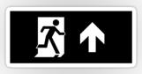 Running Man Fire Safety Exit Sign Emergency Evacuation Sticker Decals 52