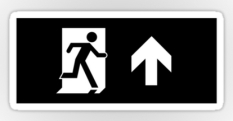 Running Man Fire Safety Exit Sign Emergency Evacuation Sticker Decals 52