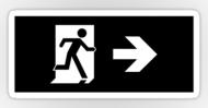 Running Man Fire Safety Exit Sign Emergency Evacuation Sticker Decals 53