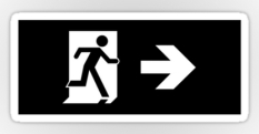 Running Man Fire Safety Exit Sign Emergency Evacuation Sticker Decals 53