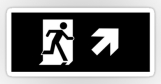 Running Man Fire Safety Exit Sign Emergency Evacuation Sticker Decals 54