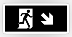 Running Man Fire Safety Exit Sign Emergency Evacuation Sticker Decals 55