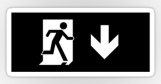 Running Man Fire Safety Exit Sign Emergency Evacuation Sticker Decals 56