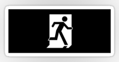Running Man Fire Safety Exit Sign Emergency Evacuation Sticker Decals 57