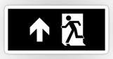Running Man Fire Safety Exit Sign Emergency Evacuation Sticker Decals 58