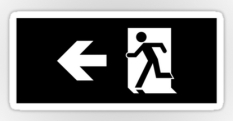 Running Man Fire Safety Exit Sign Emergency Evacuation Sticker Decals 59