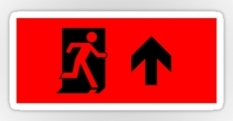 Running Man Fire Safety Exit Sign Emergency Evacuation Sticker Decals 6