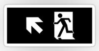 Running Man Fire Safety Exit Sign Emergency Evacuation Sticker Decals 60