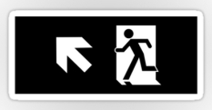 Running Man Fire Safety Exit Sign Emergency Evacuation Sticker Decals 60