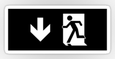 Running Man Fire Safety Exit Sign Emergency Evacuation Sticker Decals 63