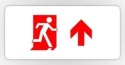 Running Man Fire Safety Exit Sign Emergency Evacuation Sticker Decals 65