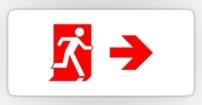 Running Man Fire Safety Exit Sign Emergency Evacuation Sticker Decals 66