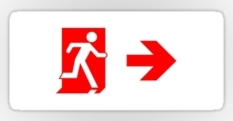 Running Man Fire Safety Exit Sign Emergency Evacuation Sticker Decals 66