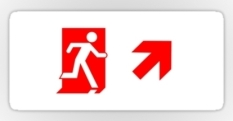 Running Man Fire Safety Exit Sign Emergency Evacuation Sticker Decals 67