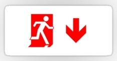 Running Man Fire Safety Exit Sign Emergency Evacuation Sticker Decals 69
