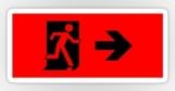 Running Man Fire Safety Exit Sign Emergency Evacuation Sticker Decals 7