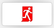 Running Man Fire Safety Exit Sign Emergency Evacuation Sticker Decals 70