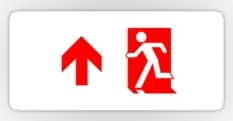 Running Man Fire Safety Exit Sign Emergency Evacuation Sticker Decals 71