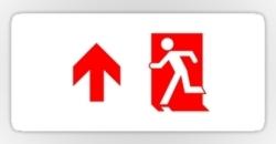Running Man Fire Safety Exit Sign Emergency Evacuation Sticker Decals 71