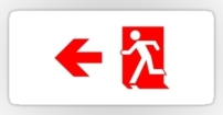 Running Man Fire Safety Exit Sign Emergency Evacuation Sticker Decals 73