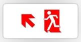 Running Man Fire Safety Exit Sign Emergency Evacuation Sticker Decals 74