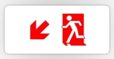 Running Man Fire Safety Exit Sign Emergency Evacuation Sticker Decals 75