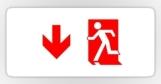 Running Man Fire Safety Exit Sign Emergency Evacuation Sticker Decals 76