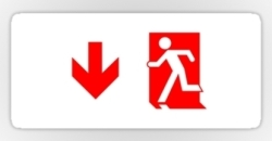 Running Man Fire Safety Exit Sign Emergency Evacuation Sticker Decals 76