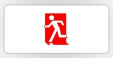 Running Man Fire Safety Exit Sign Emergency Evacuation Sticker Decals 77