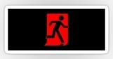 Running Man Fire Safety Exit Sign Emergency Evacuation Sticker Decals 78